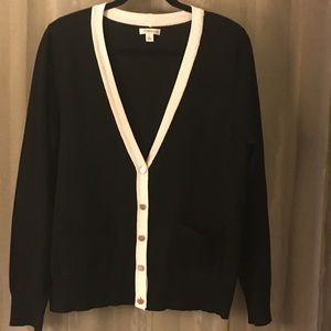Boyfriend style black cardigan sweater